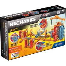 Geomag Mechanics 774 - Gravity Shoot and Catch, 243 Pieces - Magnetic Building Game