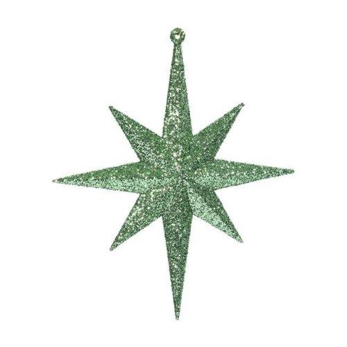 Vickerman M167254 Celadon Glitter Bethlehem Star Ornament - 8 in. - 4 Per Box