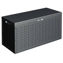 320L Large Outdoor Cargo Garden Storage Box Plastic Container Lid