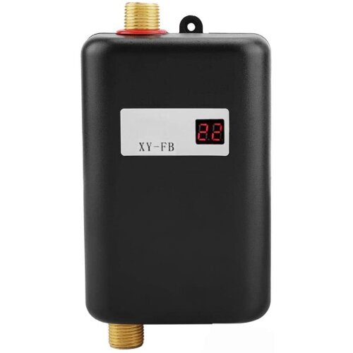 LCD Display Electric Tankless Water Heater Instant Hot Under Sink Kitchen
