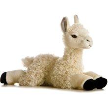Aurora 12281E 12-inch Flopsie Teddy Llama - Cream and Black