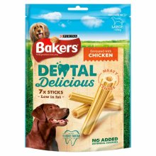 Bakers Dental Delicious Large Dog Chews Chicken 270g - Case of 6 (1.62kg)