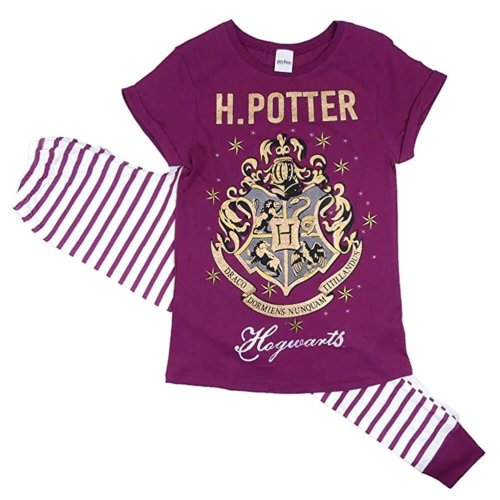 (Medium) Women's Harry Potter Hogwarts Crest Pyjama Set
