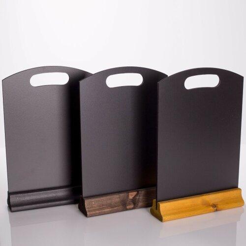 Table-Top Chalkboard Menu Stands Holders Menu Display Board with Base