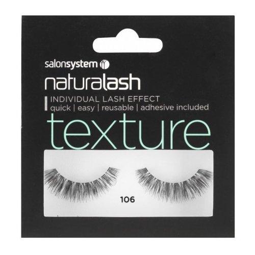 Salon System Naturalash Volume Strip Eyelashes - Black - 106
