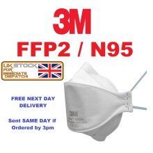 3M Individual 9320 N95 FFP2 RESPIRATOR Face Protection Mask