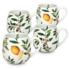 Konitz 44 7 343 2426 My Favorite Tea Porcelain Snuggle Mug Set - Assorted Color, 4 Piece