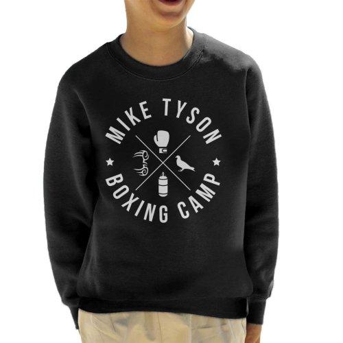 (Large (9-11 yrs)) Mike Tyson Boxing Camp White Icons Kid's Sweatshirt