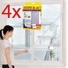 4 X LARGE WINDOW SCREEN MESH NET INSECT BUG MOSQUITO MOTH DOOR NETTING