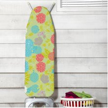 JML FastFit Ironing Board cover Heat-Reflecting Ironing Board Cover 139 x 49 cm - Pressed Flowers