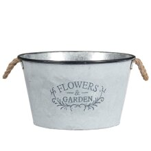 New Vintage Extra Large Bucket Planter Use as a Planter or Decorative Ornament.