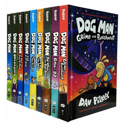 Dog Man Series 1-9 Books Set Children's Collection