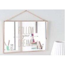 Wall Mirror 20cm X 30cm X 1cm Decorative Follow Your Dream Mirror