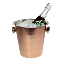 Rose Gold Stainless Steel Champagne Ice Bucket Drinks Cooler Wine Beverage Bar