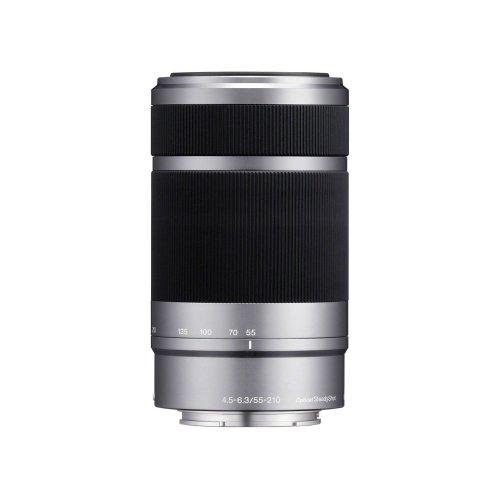 Sony E 55-210mm f/4.5-6.3 OSS Lens - Silver