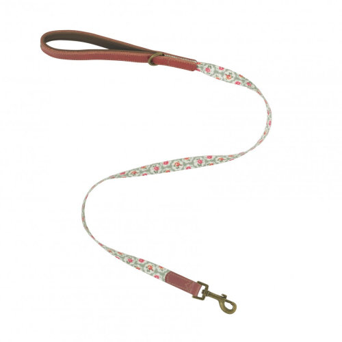 Cath Kidston Provence Rose Soft-touch Leather Lead W/printed Inner Small
