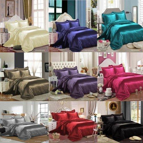 6PCS Satin Silk Duvet Cover Bedding Set