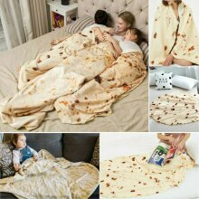 Mexican Throw Burrito Adult Kids Blanket 3D Corn Tortilla Blanket Bedding Funny