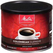 Melitta Colombian Supreme Coffee, Medium Roast, Extra Fine Grind, 22 Ounce Can