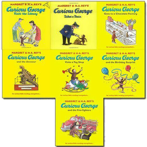 Curious George The Monkey Collection 7 Book Set