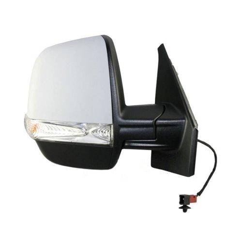 Vauxhall Combo Mk3 Van 2012-> Electric Wing Door Mirror Primed Drivers Side