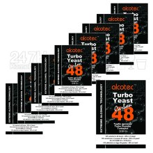 10x Alcotec Carbon 48 Turbo Yeast with Activated Carbon