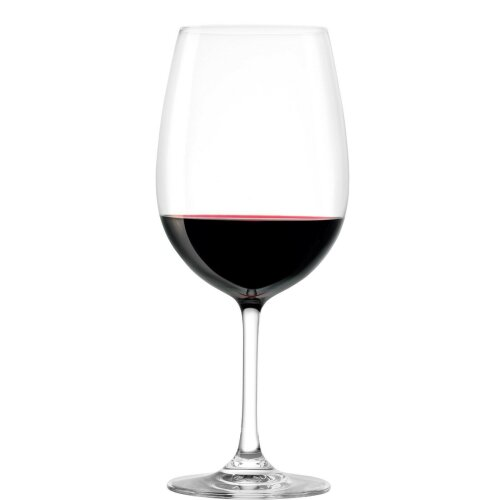 Set of 6 Red Wine Crystal Glass Wine Glasses - 450ml Stolzle Made in Germany
