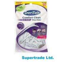 DenTek Comfort Clean Floss Picks Fresh Mint Back Teeth Easy Reach - 60 Per Pack