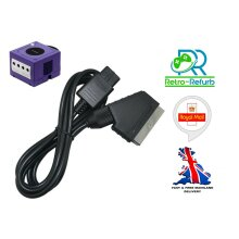 Nintendo Gamecube RGB Scart Cable TV Lead Stereo Sound - Brand NEW - UK