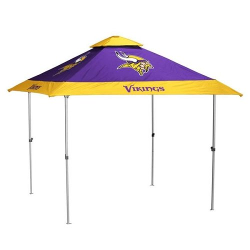 Logo Brands 618-37P-NL 8 x 8 in. Minnesota Vikings Pagoda Canopy No Lights