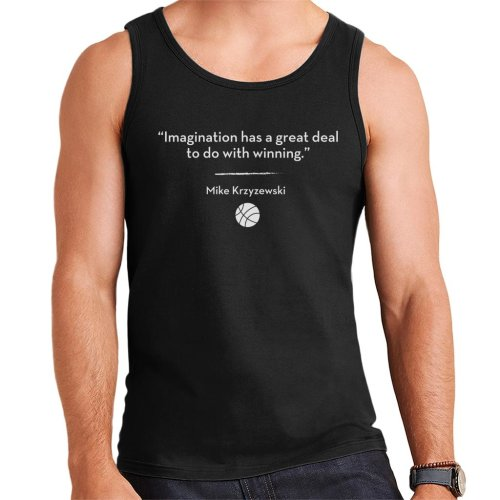 Imagination Has A Great Deal to Do With Winning Quote Men's Vest