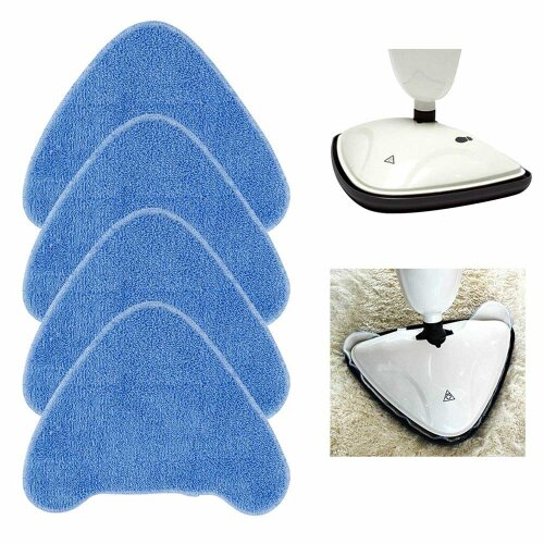 4x Replacement Steam Mop Pads For VAX S86 SF CC Steam Blue Washable