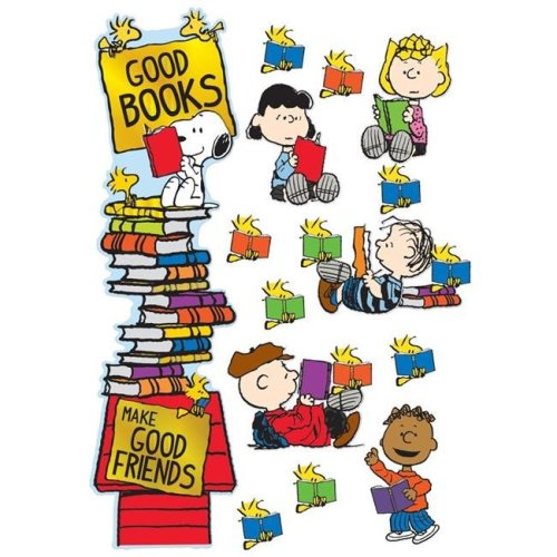 Eureka EU-849315BN Peanuts Reading All-in-One Door Decor Kit, Pack of 3