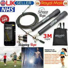 3m Adjustable Skipping Jumping Rope Speed Jump Fitness Boxing Gym