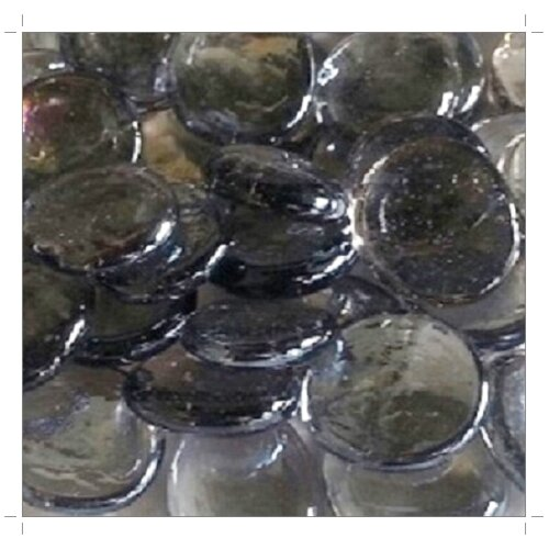 (Purple Grey 30mm, 500g) Larger Glass Stones & Chippings