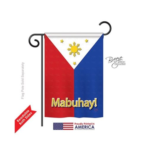 Breeze Decor 58097 Philippines 2-Sided Impression Garden Flag - 13 x 18.5 in.