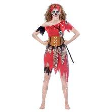 Womens Witch Doctor Halloween Fancy Dress Costume Size 16-18