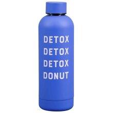Yes Studio Women's Water Bottle-Detox Donut, Blue, 500ml