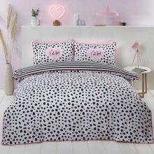 Dalmation Black/White Single Duvet Cover Set Bedding Bed Quilt Set