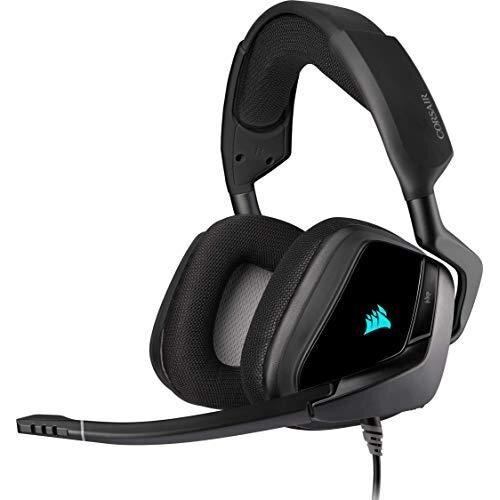 Corsair VOID ELITE RGB USB Gaming Headset (7.1 Surround Sound, Optimised Omnidirection Microphone, Customisable RGB Lighting, Microfibre Mesh Fabric