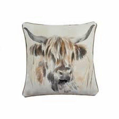 Evans Lichfield Highland Cow Cushion Cover