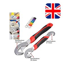 Universal Quick Snap & Grip Adjustable Wrench Spanner Set Multi func with LED