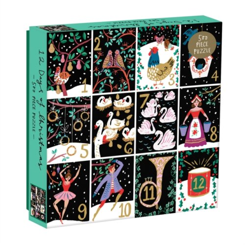 Twelve Days of Christmas 500 Piece Puzzle by Created by Galison