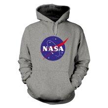 NASA 'Insignia Logo' (Grey) Pull Over Hoodie