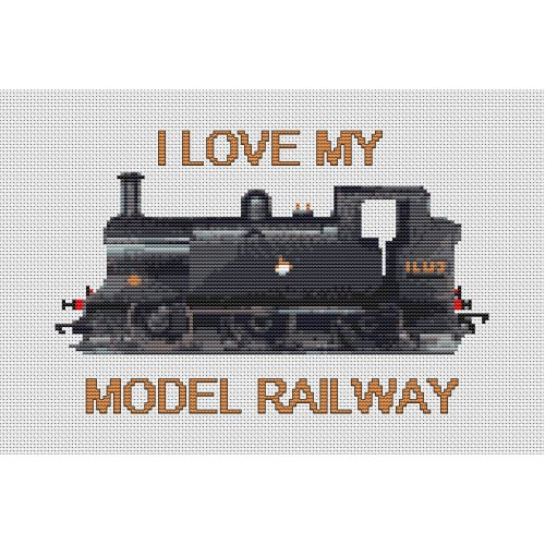 Model Train Railway Complete Counted Cross stitch Kit