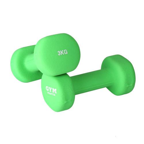 (3kg Pair) Gym Master Pair of Dumbbells 1-10kg