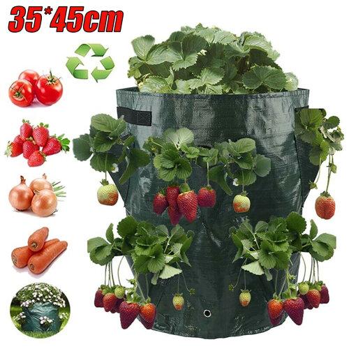 Strawberry Planter Grow Bags Breathable Reusable For Garden Vegetables