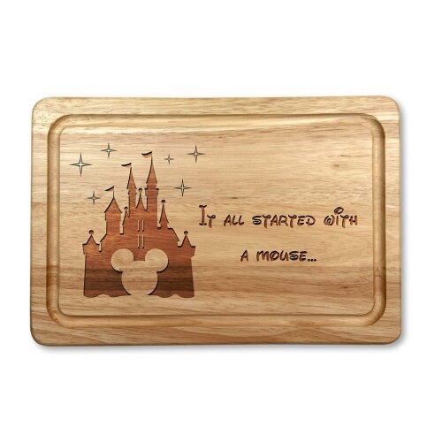 It All Started With A Mouse Wooden Chopping Board