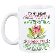 Funny Creative Novelty Coffee Mug Gifts for Family(to Dear Daughter-in-Law)