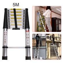 5M Portable Heavy Duty Multi-Purpose Aluminium Telescopic Ladder